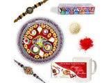 Designer Beads Rakhi Gift Hamper
