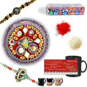 rakhi sg designer beads rakhi 27035