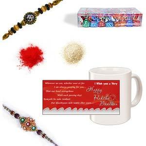 rakhi sg designer beads rakhi 27088