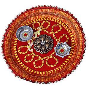 rakhi sg designer beads rakhi thali 22224