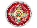 Designer Leaf Hand Painted Rahki Thali