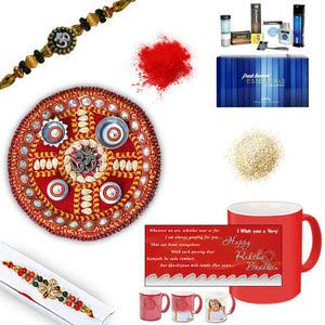 rakhi sg diamond and beads rakhi 27043