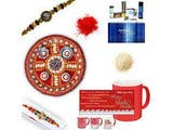 Diamond and Beads Rakhi Gift Hamper