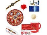 Diamond and Beads Rakhi Gift Hamper