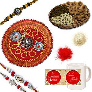 rakhi sg diamond and beads rakhi 27054