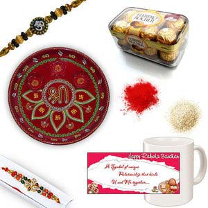 rakhi sg diamond and beads rakhi 27067