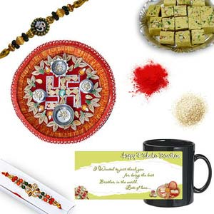 rakhi sg diamond and beads rakhi 27074