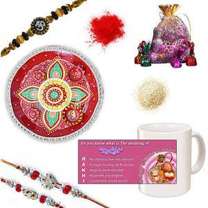 rakhi sg diamond and beads rakhi 27132