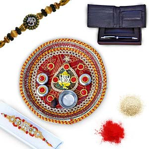 rakhi sg diamond and beads rakhi in premium box 27004