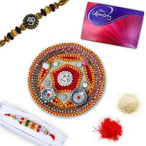 rakhi sg diamond and beads rakhi in premium box 27005