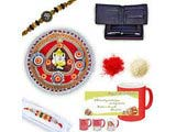 Diamond and Beads Rakhi in Premium Box Gift Hamper