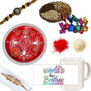 rakhi sg diamond and beads rakhi in premium box 27058