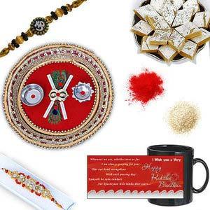 rakhi sg diamond and beads rakhi in premium box 27070