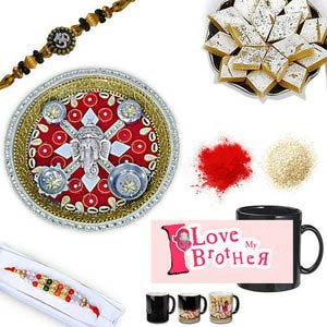 rakhi sg diamond and beads rakhi in premium box 27080