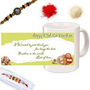 rakhi sg diamond and beads rakhi in premium box 27120