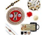 Diamond Chandan Rakhi Gift Hamper