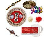 Divine Rudraksh Rakhi Gift Hamper