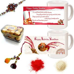 rakhi sg divine rudraksh rakhi with lumba for bhabhi 27151