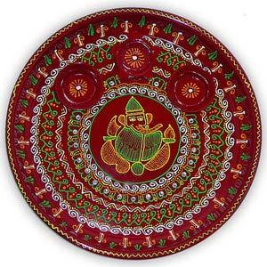 rakhi sg ganesha hand painted rakhi thali 22238