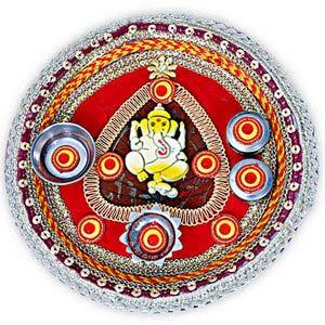 rakhi sg ganesha rakhi thali 22234