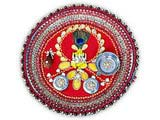 Ganesha Thali with Peacock Feather