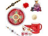 Om Silver Rakhi Gift Hamper