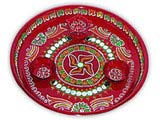 Swastik Hand Painted Puja Thali