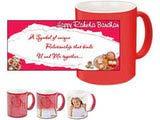 U and Me Happy Rakhi Red Magic Mug