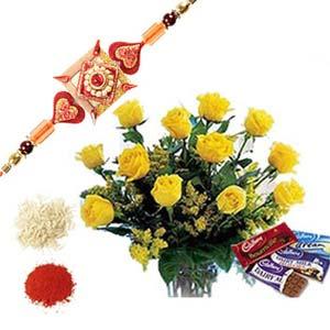 rakshabandhan cadbury with roses rxp40