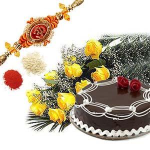 rakshabandhan cake with roses rxp14