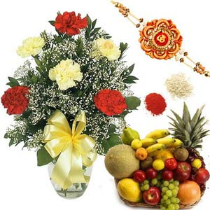 rakshabandhan carnation and fruits rxp45