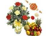 Carnation N Fruits for Rakshabandhan