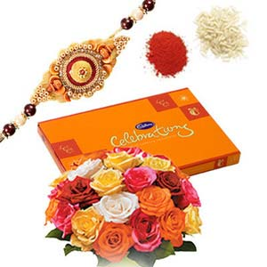 rakshabandhan celebration with roses rxp10