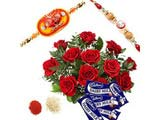 Chocolates With Roses for Rakshabandhan