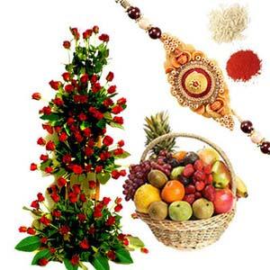 rakshabandhan rakhi tall arrangement rxp46