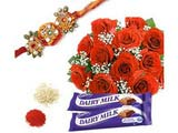 Rakhi With Roses for Rakshabandhan
