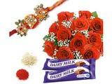 Rakhi With Roses for Rakshabandhan
