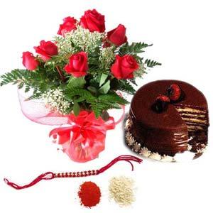 rakshabandhan roses with cake rxp1