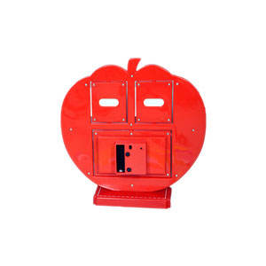 red apple photo frame clock 2 pictures