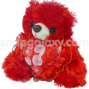 red teddy with heart small