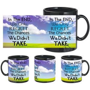 regret quote black mug