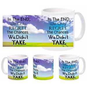 regret quote mug