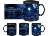 Romantic Moon Earth Black Mug