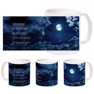 romantic moon earth mug
