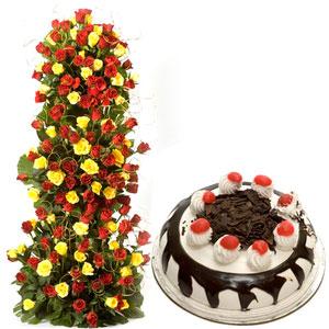 roses black forest cake
