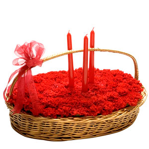 roses candles basket perfect surprise