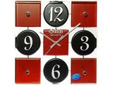 Black and Brown Square Wall Clock
