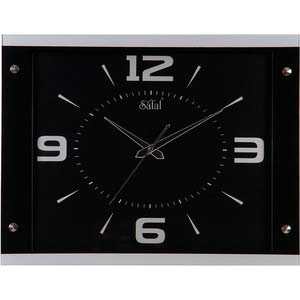 safal black rectangle wall clock 1070