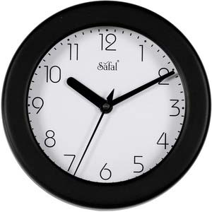 safal black round wall clock 1073