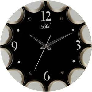 safal black wall clock 1083
